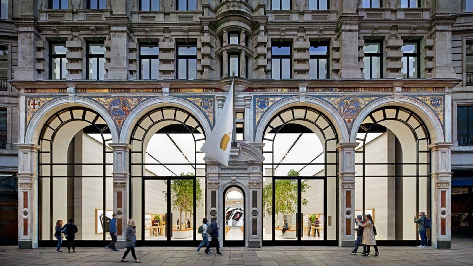 Façade extérieur Apple Regent Street London - Darest Informatic