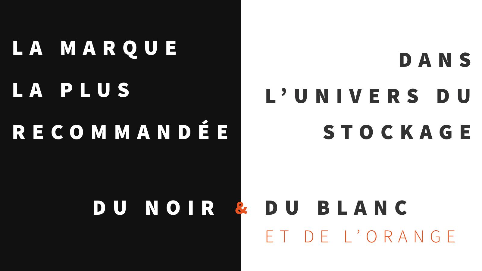 Pure Storage - Campagne noir, blanc et orange