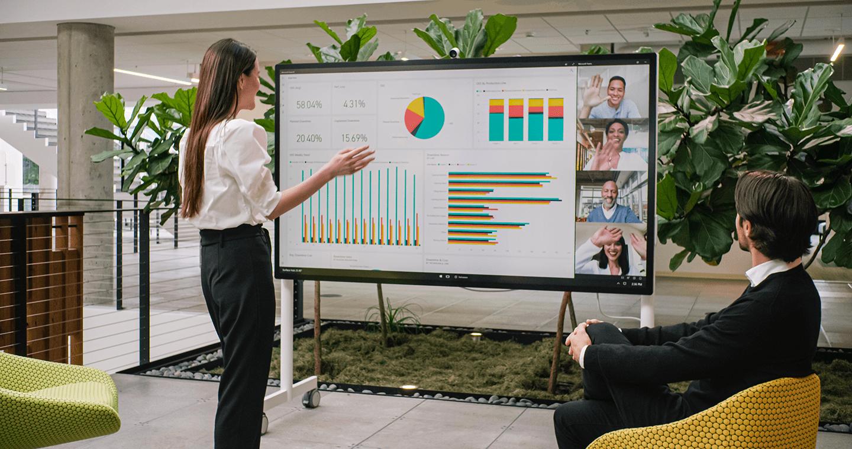 Banner Microsoft Surface Hub 2S - Présentation diagramme - Darest