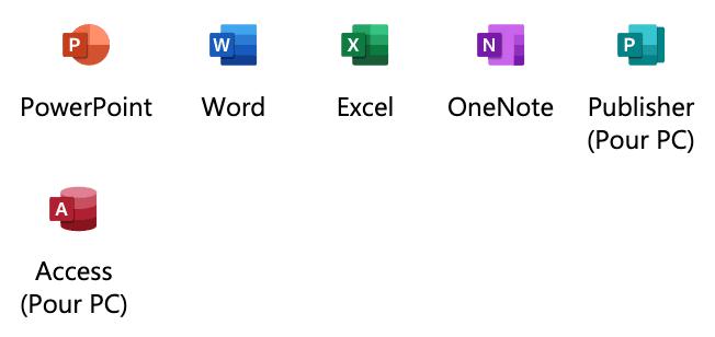 Icônes Microsoft 365 Apps - Darest